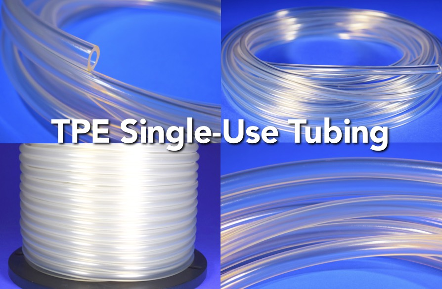 TPE single use biopharmaceutical tubing