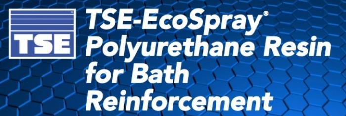TSE-EcoSpray polyurethane resin for bath reinforcement