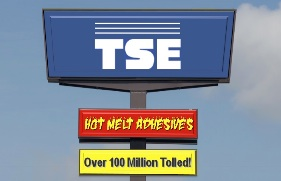 reactive hot melt adhesives, over 100 million tolled